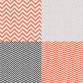 Geometric chevron seamless patterns set. Hand drawn texture — Stock Vector