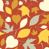 Seamless pattern with falling leaves. Autumn background — Stock Vector