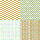 Geometric chevron seamless patterns set. Hand drawn texture — Stock Vector