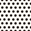 Polka dot black and white painted seamless pattern — Stock Vector #51721609