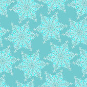 Seamless pattern with decorative snowflakes — Stock Vector