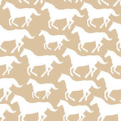 Seamless pattern with stylized horses — Stock Vector