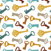 Seamless pattern with keyes — 图库矢量图片