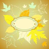 Cadre décoratif avec la chute des feuilles — Vecteur