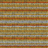 Seamless pattern with colorful knitted stripes — Stock Vector