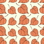 Seamless pattern with falling leaves — Stockvektor