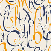 Seamless pattern with hand drawn alphabet — Cтоковый вектор