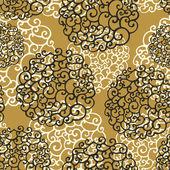 Бесшовный фон с элементами абстрактные каракули — Cтоковый вектор