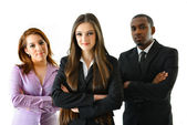 Successful Business Woman and Her Team — Stock Photo