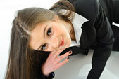 Business Woman Looking Up — Stock Photo