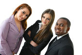Smiling Business Team of three young people — Stockfoto