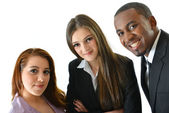 Business Team of three young people — Stock fotografie