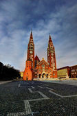 Dome square in Szeged, Hungary — Stock Photo
