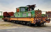 Old electric locomotive — Stock Photo