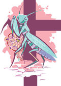 Mantis — Stock Vector