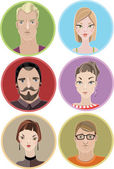 People avatars — Stock Vector