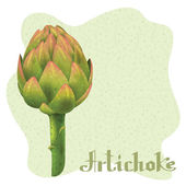 Magical artichoke — Stock Vector
