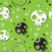 Skulls ornament — Vector de stock