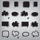 Speech bubbles dark — Stockvektor