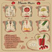 Bloody Mary — Stock Vector