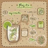 Mojito — Stock Vector