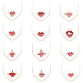 唇 — ストックベクタ