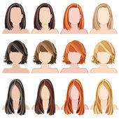 Hairstyles — Stock Vector