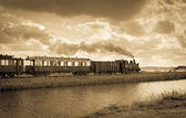 Pociąg w holandii — Zdjęcie stockowe