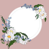 Beautiful frame with daisies — Stock Vector
