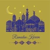 Ramadan Kareem greetings. — Vecteur