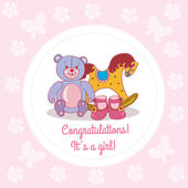 Congrats,it's a girl! — Stock Vector