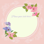 Floral design for greeting card. — ストックベクタ