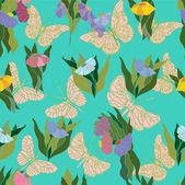 Dekorativní květinové pozadí. — Stock vektor