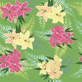 Decorative floral background. — Stock Vector