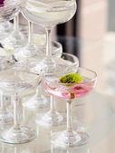 Champagne pagoda — Stock Photo