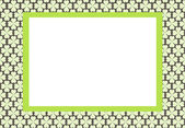 Frame for photo, background with green flowers — Stock Vector
