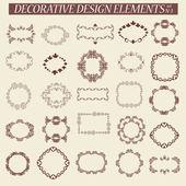 Calligraphic design elements, frame — Stock Vector