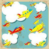 天上的飞机 — 图库矢量图片