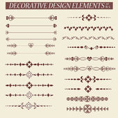 Decorative elements — Stock Vector