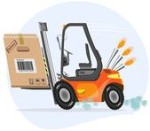 Quick loader with box — Stock Vector