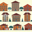 Vector Collection of City and Town Buildings. — Stock Vector #46119381