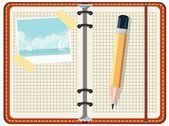 Tagebuch eintrag reisen. — Stockvektor