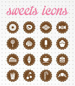 Sweets icons — Stock Vector