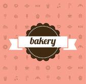 糖果卡。面包店图标. — 图库矢量图片
