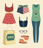 Fashion diary. — Stock Vector
