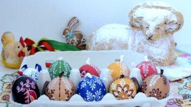 Wielkanocne dekoracje - pakiet jaja z innych ozdób (Baran) — Wideo stockowe