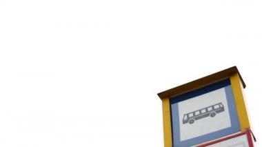 Bus stop - sign&symbol — Stock Video