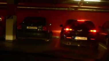 A man drives a car - enter into the car park - timelapse — Vídeo de stock
