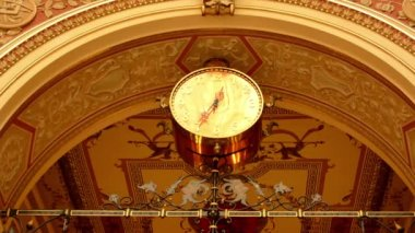 Decoration - Historical building(interior) - clock — Stock Video