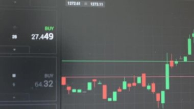 Financial market (exchange) - graph — Stock Video